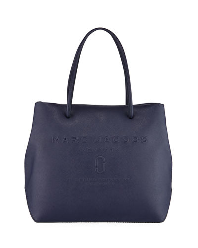 East-West Saffiano Leather Tote Bag