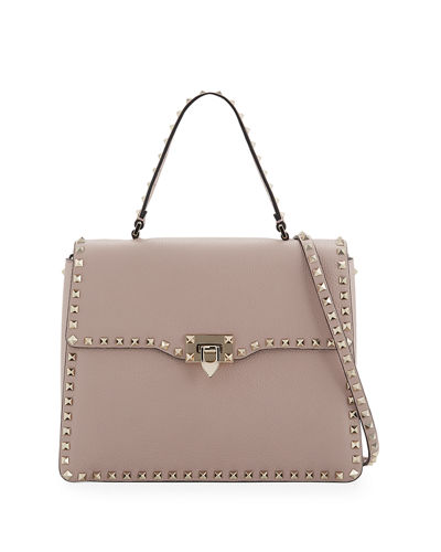 Rockstud Medium Leather Top-Handle Satchel Bag