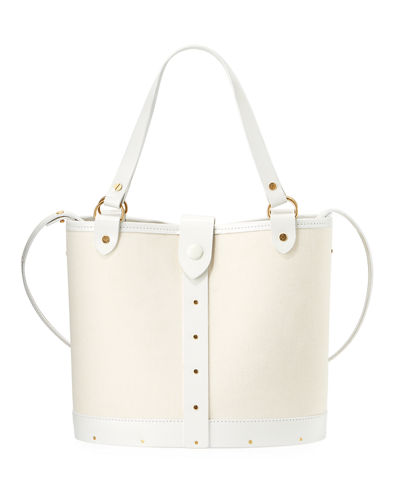 Pail Denim & Wood Bucket Bag