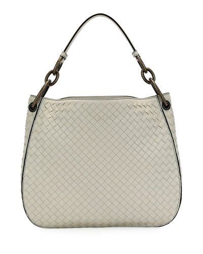 Small Loop Intrecciato Woven Hobo Bag