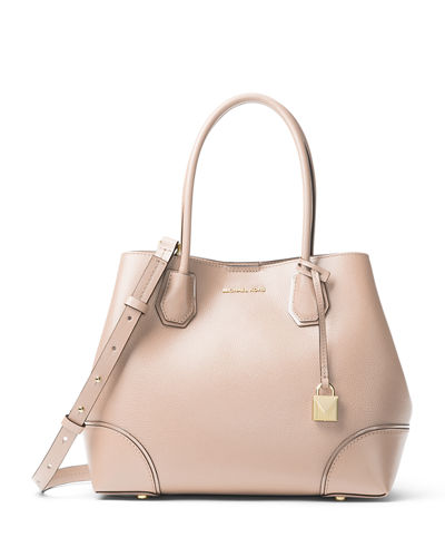 Annie Medium Leather Snap-Top Tote Bag