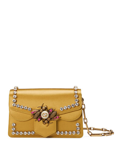 Broadway Satin Bee Shoulder Bag