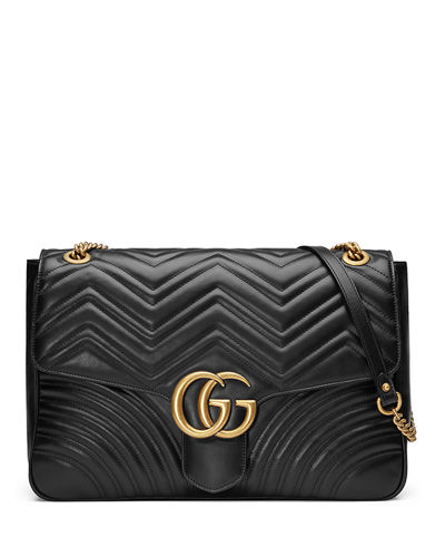 GG Marmont Large Chevron Quilted Leather Shoulder Bag