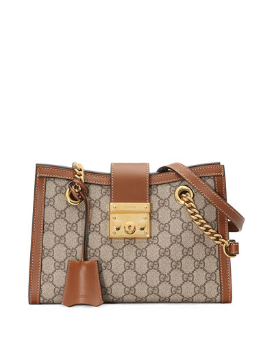 Padlock Small GG Supreme Canvas Shoulder Bag