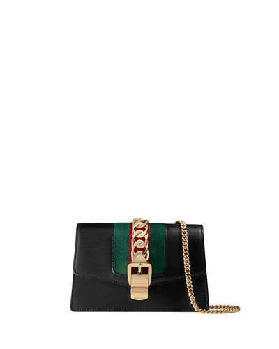 955d23c7e387 Gucci Sylvie Super Mini Leather Wallet on a Chain from Neiman Marcus -  Styhunt