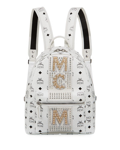 Stark Stripe Crystal Studs Backpack