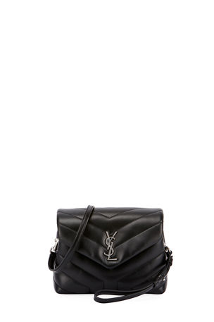 Saint Laurent Loulou Toy Matelasse Calfskin V-Flap Crossbody Bag