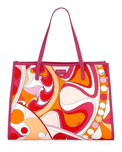 Nigeria-Printed East-West Beach Tote Bag