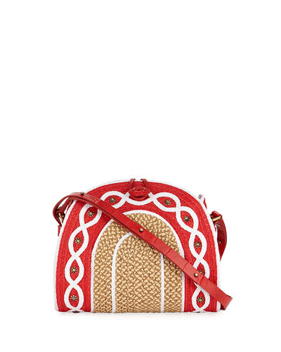 Lil Jiva Woven Straw Shoulder Bag