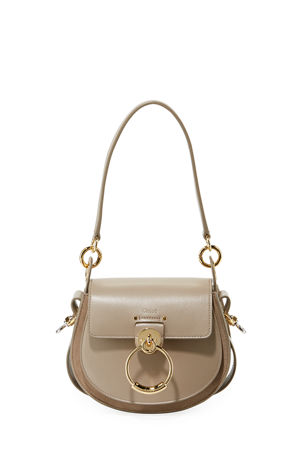 Chloe Tess Small Leather/Suede Camera Crossbody Bag