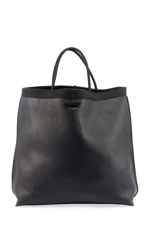 Saint Laurent Patti Large Leather Tote Bag