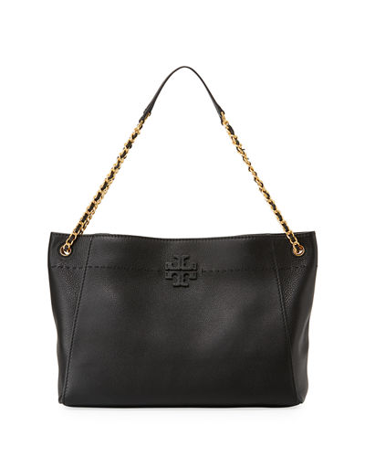 5c9450c27c15 Tory Burch McGraw Woven Chain Slouchy Tote Bag