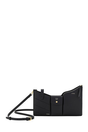 Fendi Bustine Three-Pocket Century Calf Crossbody Bag