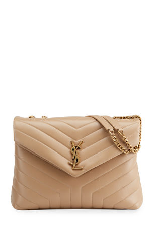 Saint Laurent Loulou Medium Calf Flap-Top Shoulder Bag