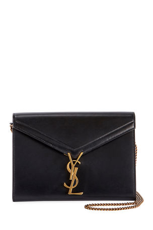 Saint Laurent Cassandre YSL Monogram Leather Wallet On Chain