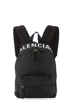 Balenciaga Wheel Small Nylon Logo Backpack Bag