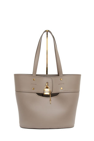Chloe Aby Medium Lock-and-Key Tote Bag