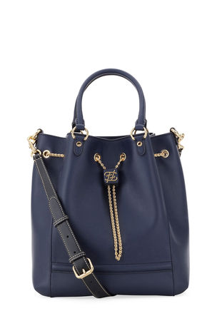 Fendi Grace Calf and King Calf Bucket Bag