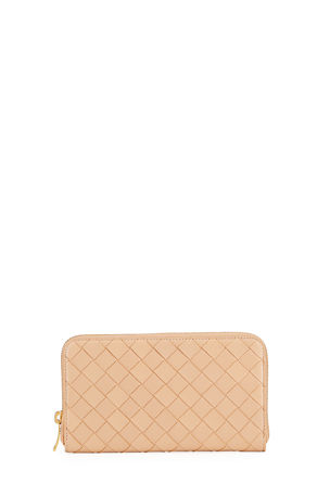 Bottega Veneta Zip Around Napa Intrecciato Wallet