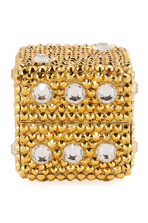 Judith Leiber Couture Cube Dice Crystal Pillbox