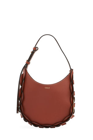 Chloe Darryl Small Leather Hobo Bag