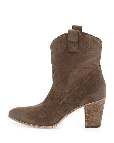 Chiara Slouchy Suede Western Ankle Boot