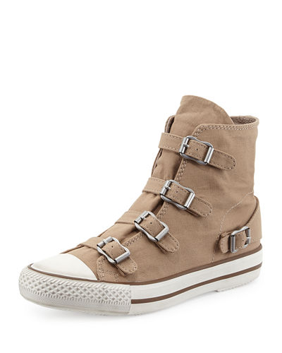 Ash Virgin Buckled Canvas Sneaker