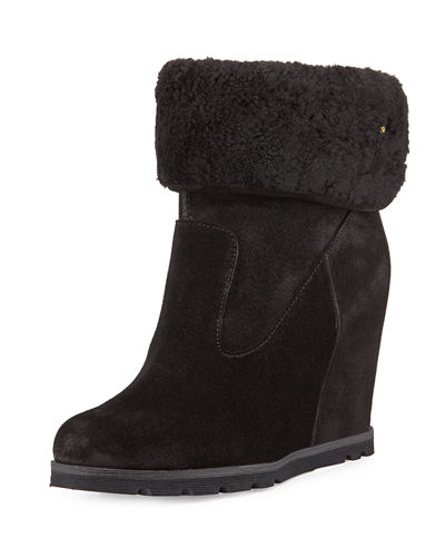 UGG Kyra Shearling Wedge Bootie