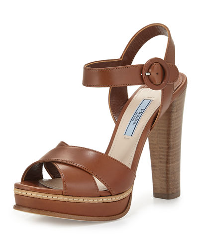 Patent Leather Crisscross Sandal