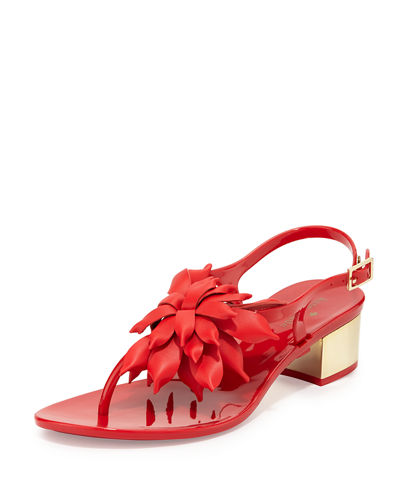 kate spade new york davina flower jelly low-heel
