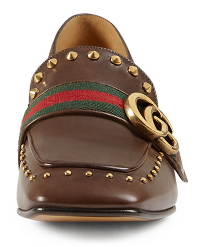 Peyton Studded Square-Toe Loafer