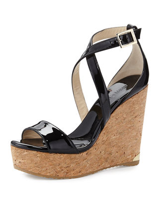 Women&39s Wedges: Peep-toe &amp Heels at Neiman Marcus