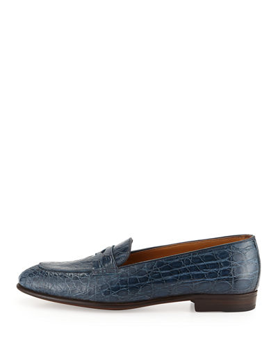 Crocodile Penny Loafer