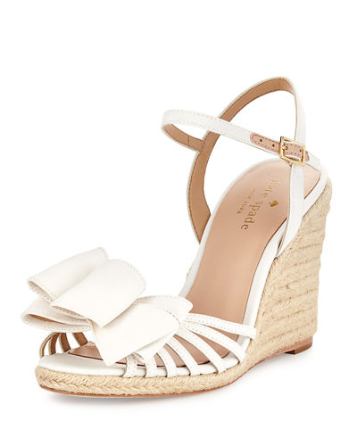 biana grosgrain bow wedge sandal