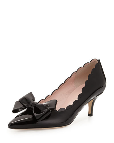 kate spade new york maxine patent scalloped bow
