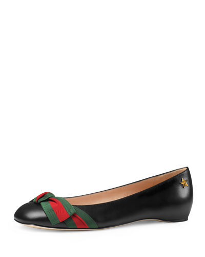 Gucci Aline Leather Flat