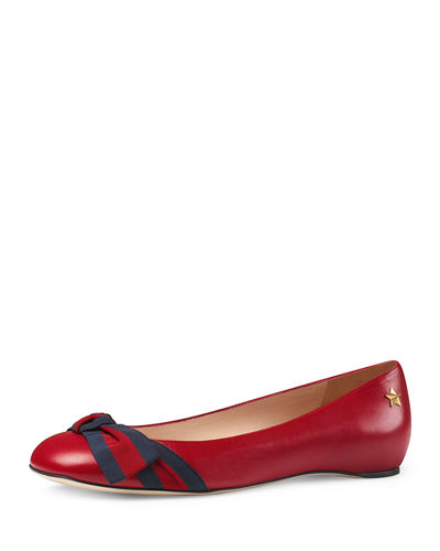 Aline Leather Flat