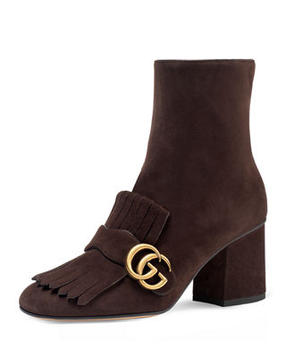 Gucci Marmont Suede 75mm Ankle Boot