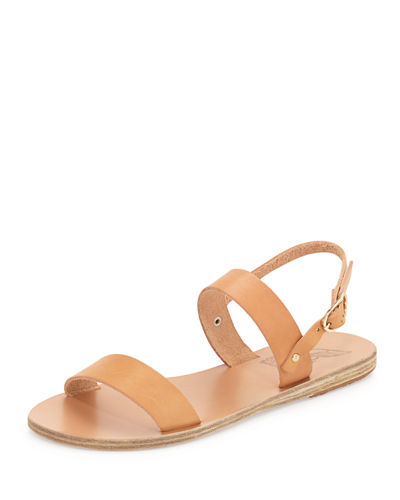 Clio Double-Band Flat Slingback Sandal