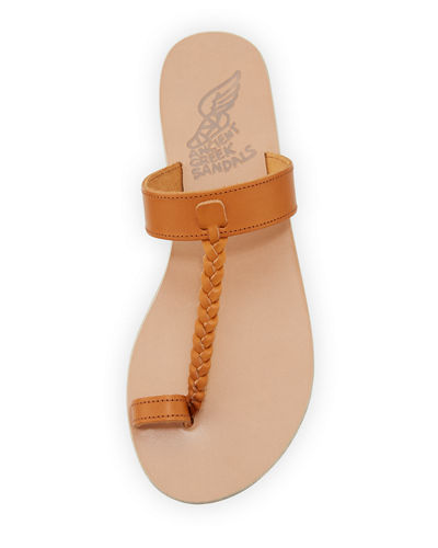 Melpomeni Toe-Ring Leather Sandal