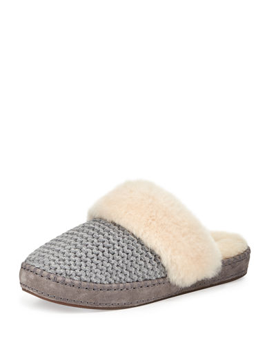 Aira Knit Shearling Slipper
