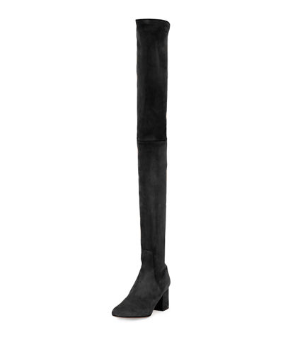 Valentino Stretch Suede Over-The-Knee Boot