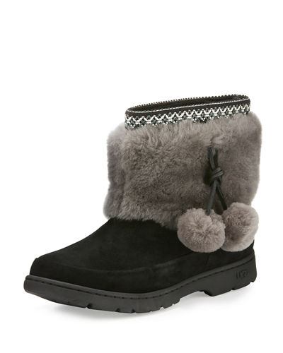 Brie Pompom Shearling Boot