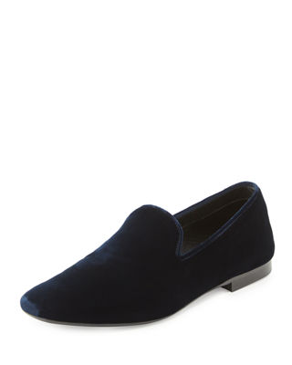 BRAY VELVET SMOKING LOAFER, TWILIGHT