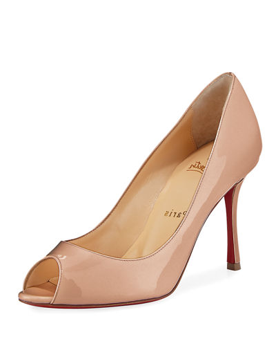 Yootish 85mm Peep-Toe Red Sole Pump