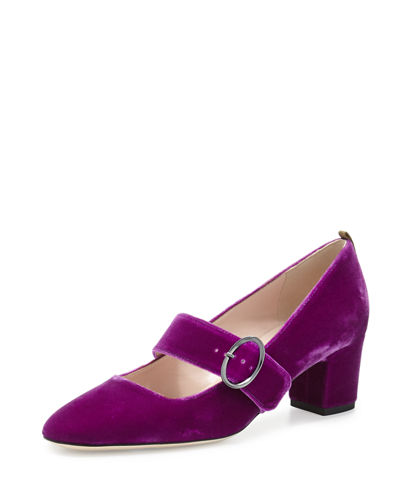 Tartt Velvet Mary Jane Pump