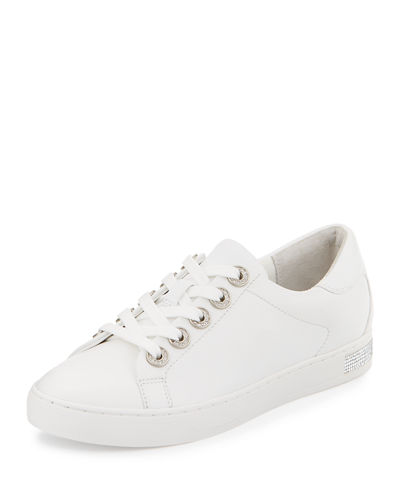 Halle Crystal Leather Sneaker