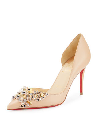 Christian Louboutin Farfa Spikes Half-d\u0027Orsay 85mm Red Sole
