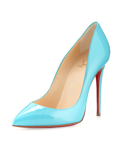 Pigalle Follies Patent 100mm Red Sole Pump