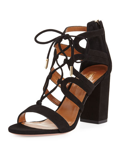 Holli Suede Lace-Up 85mm Sandal